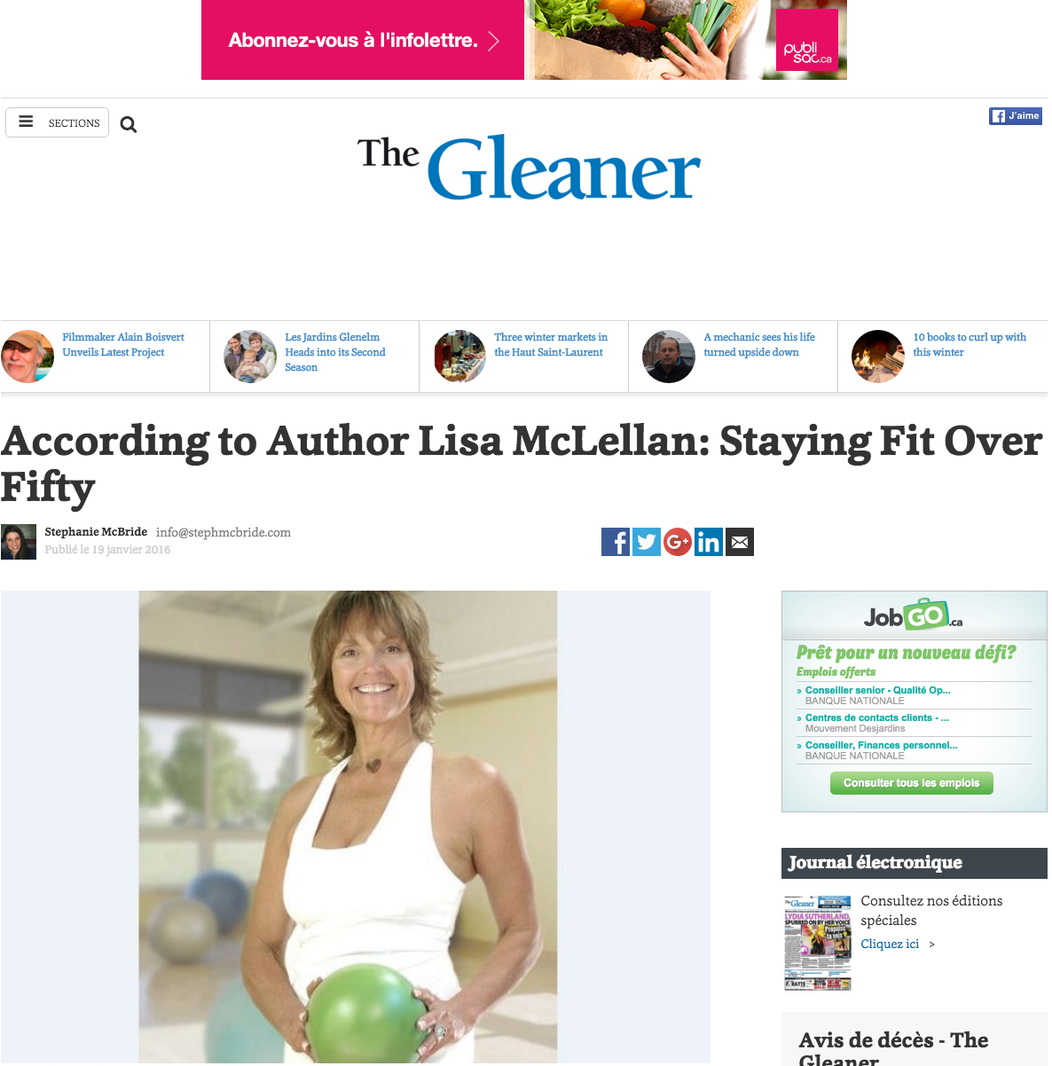 Staying Fit Over Fifty - The Gleaner - Lisa McLellan